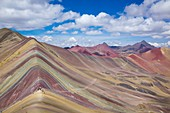 Peru, Cusco area, Andes cordillera, Ausangate range, the Winicunca also known as Rainbow mountain is a geological wonder