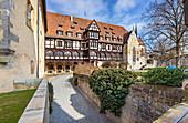 Luther Chapel and Fürstenbau in the inner courtyard of Veste Coburg, Coburg, Upper Franconia, Bavaria, Germany