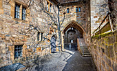 Duchess building in the outer courtyard of Veste Coburg, Coburg, Upper Franconia, Bavaria, Germany