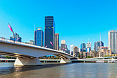Skyline of Central Business District (CBD) and Brisbane River, Brisbane, Queensland, Australia