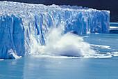 Glacier calving, Perito Moreno Glacier, Los Glaciares National Park, Argentina, South America