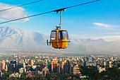 Cable car in San Cristobal hill, Santiago de Chile, Chile, South America