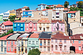 Traditional houses, historic district, Valparaiso, Unesco World Heritage Site, Chile