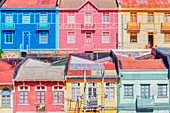 Traditional houses, Valparaiso, Chile, South America