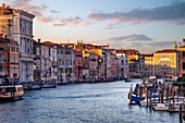 Morning in Venice on the Grand Canal, Veneto, Italy, Europe