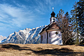 Maria Queen Chapel, Lautersee, Mittenwald, Upper Bavaria, Bavaria, Germany