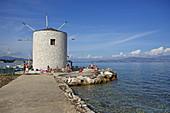 Windmill, Garitsa District, Kerkira, Corfu Town, Corfu Island, Ionian Islands, Greece