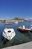 Marina and Old Venetian Fortress, Kerkira, Corfu Town, Corfu Island, Ionian Islands, Greece