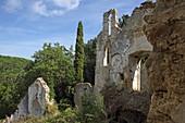 Ruine der Panagia Arkoudila, Kavos, Insel Korfu, Ionische Inseln, Griechenland