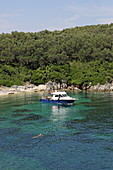 Yaliskari Beach within walking distance from Agni Bay, northeast coast of Corfu, Ionian Islands, Greece