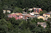 The place Agios Markos is located southwest of the Pantoskratoras mountain, Corfu island, Ionian islands, Greece