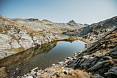 Lake in the swiss mountains, switzerland, mountains, lake,