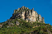 Tarn Gorge at Le Rozier, Gorges du Tarn, Parc National des Cevennes, Cevennes National Park, Lozère, Languedoc-Roussillon, Occitania, France