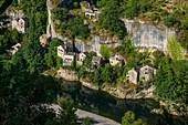Castelbouc, Gorges du Tarn, Parc National des Cevennes, Cevennes National Park, Lozère, Languedoc-Roussillon, Occitania, France