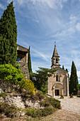 La Roque-sur-Cèze, one of the most beautiful villages in France, Les plus beaux villages de France, Gorges du Cèze, Gard department, Occitania, France