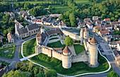 France, Seine et Marne, Blandy les Tours, the castle (aerial view)