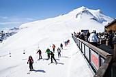 France, savoie, Tarentaise valley, Tignes ski resort, altitude restaurant le Panoramic (3032m), Bouvier family