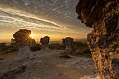 France, Alpes de Haute Provence, rocks of Mourres, Forcalquier, Luberon Regional Nature Park