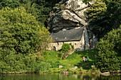 Frankreich, Morbihan, Pluméliau-Bieuzy, die Kapelle Saint-Gildas von Bieuzy