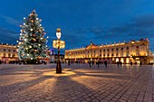 France, Meurthe et Moselle, Nancy, Stanislas square (former royal square) built by Stanislas Lescynski, king of Poland and last duke of Lorraine in the 18th century, listed as World Heritage by UNESCO