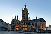 France, Finistere, stop on the Way of St James, St Thegonnec, parish enclosure, the church