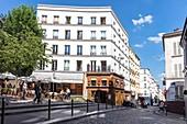 France, Paris, 18th District, Rue des Trois Frères