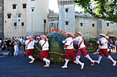 France, Bouches du Rhone, Tarascon, medieval castle of King Rene (XVth) listed historical monument, festival of La Tarasque (last weekend of June)