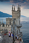 The Swallow's Nest castle perched on Aurora Clff, Yalta, Crimea, Ukraine, Europe