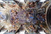 A Short Cut to Paradise, Andrea Pozzo ceiling at the church of St. Ignazio da Loyola (Ignatius of Loyola) (Church of the Gesu), Rome, Lazio, Italy, Europe
