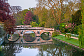 The Backs, Clare College, Clare Bridge, Cambridge, Cambridgeshire, England, United Kingdom, Europe