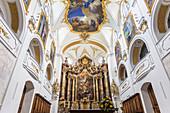 Chancel of the basilica in Scheyern Monastery, Upper Bavaria, Bavaria, Germany