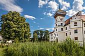 Hohenkammer Castle in Hohenkammer, Upper Bavaria, Bavaria, Germany