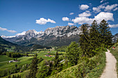 Berchtesgaden Alps and Watzmann seen from Ramsau, Upper Bavaria, Bavaria, Germany