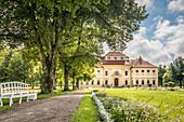 Path to Lustheim Castle in the park of Oberschleissheim near Munich, Upper Bavaria, Bavaria, Germany