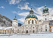 Basilica of the Assumption of the Benedictine Abbey Ettal, Ettal, Upper Bavaria, Bavaria, Germany
