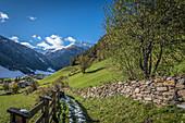 Hohlweg alley to Innervillgraten, Villgratental, East Tyrol, Tyrol, Austria
