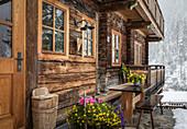 Historic mountain farm in limestone, Innervillgraten, Villgratental, East Tyrol, Tyrol, Austria