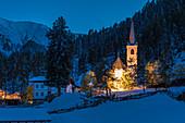 Wallfahrtskirche Maria Schnee in Kalkstein, Innervillgraten, Villgratental, Osttirol, Tirol, Österreich