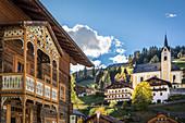 Center of Ausservillgraten, Villgratental, East Tyrol, Tyrol, Austria