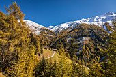 View from Kalser Großglocknerstrasse to the east, Kals am Gloßglockner, East Tyrol, Tyrol, Austria
