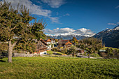 Village center of Obermauern, Virgental, East Tyrol, Tyrol, Austria