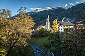 Mitteldorf in the Virgental with the Chapel of Saint Magdalena, East Tyrol, Tyrol, Austria
