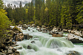Rapids of the Ötztaler Ache in the Ötztal, Oetz, Tyrol, Austria