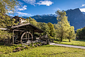 Historic mill near Piburg in the Ötztal, Tyrol, Austria