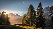 Sunrise on the Kühtai plateau, Stubai Alps, Tyrol, Austria