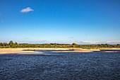 Sandbar along Volga River, near Nizhny Novgorod, Nizhny Novgorod District, Russia, Europe