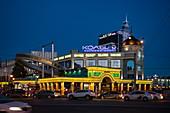 Rush hour with Grand Kazan Hotel at dusk, Kazan, Kazan District, Republic of Tatarstan, Russia, Europe