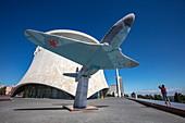 Yak-3 aircraft from World War II exhibited in front of the Volgograd Panorama Museum, Volgograd, Volgograd District, Russia, Europe