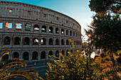 Exterior view of Colosseum in Rome city