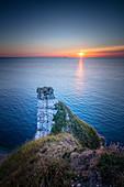 Rock needle on the Alabaster Coast near Étretat, Normandy, France.
